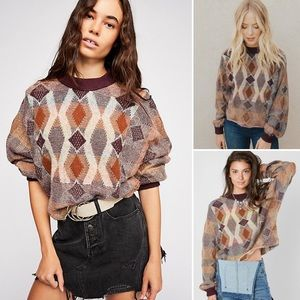 Free People Diamond Days Cropped Sweater (XS)